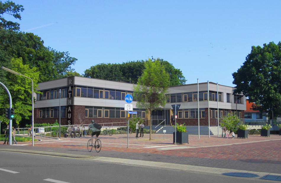 Eingang Rathaus Neu