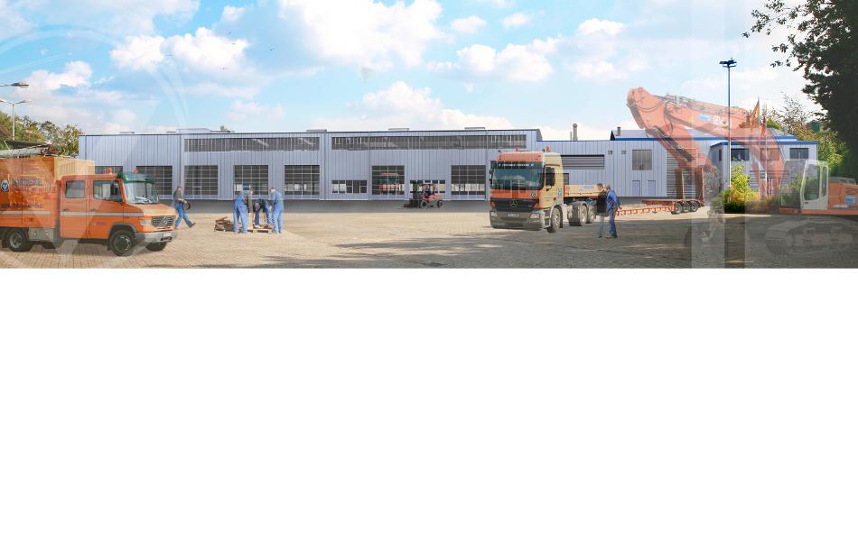 Az122 Umbau Herne Vorwerk Baustelle Rohrleitungsbau Visualisierung
