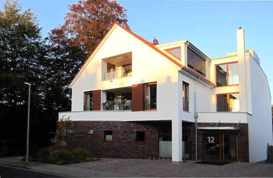 Az175 Tagespflege Neubau Scheessel Eingang Wohnungen Demenz Pflege Außen 1