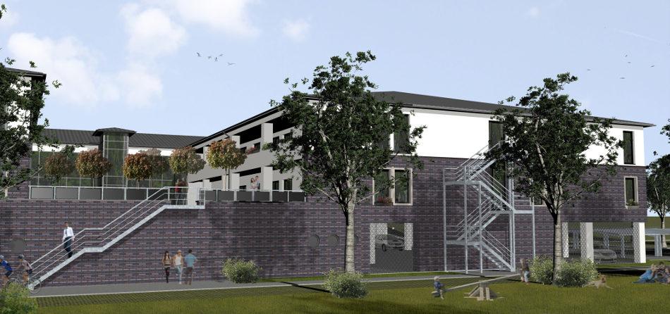 Az222_Wohnbebauung_Bremerhaven_Entwurf_Visualisierung_Rückseite