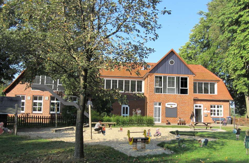 Az230_vorher_Kindergarten_Umbau_Dorfgemeinschaftsanlage_Westerwesede_Variante_Mauerwerk