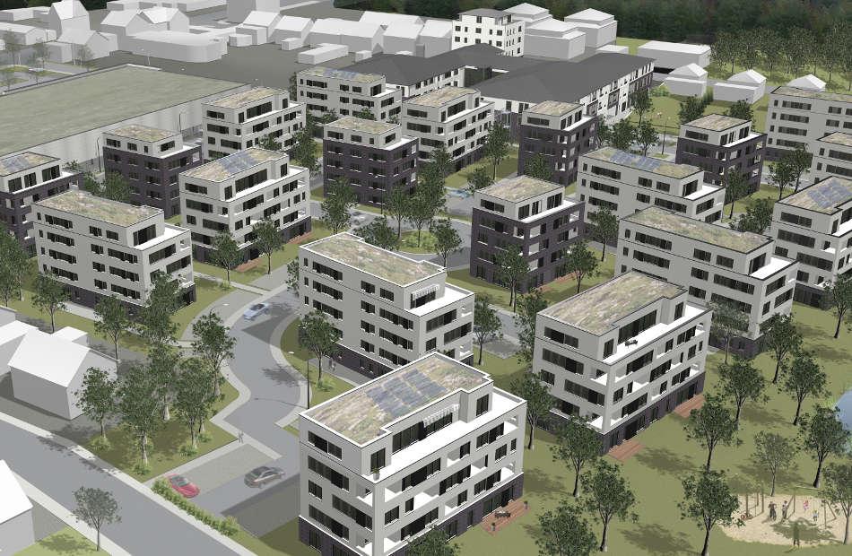 Neubau Von Mehrfamilienhäusern