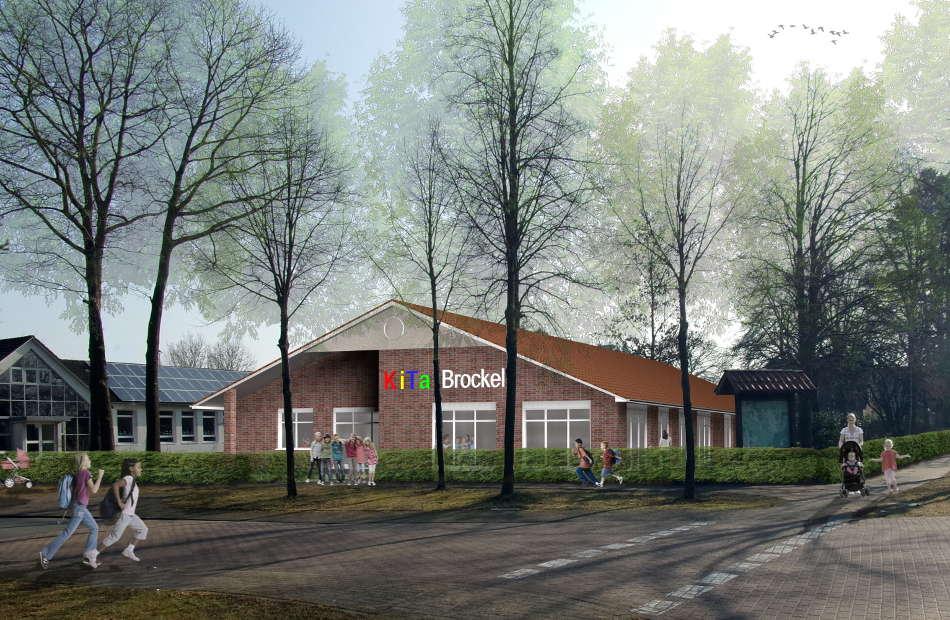 Az330 Visualisierung Kindertagesstätte Brockel Neubau Entwurf Ausführung