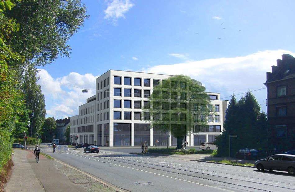 Az345_Visualisierung_quartiersentwicklung_neubau_geschaeftshaus_hell_lochfassade