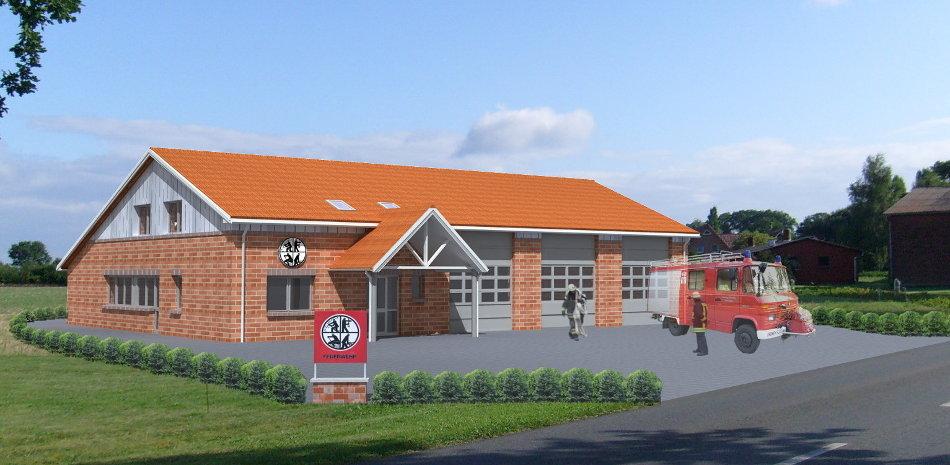 Az092 Feuerwehrhaus Kirchwalsede Neubau Feuerwehr Visualisierung