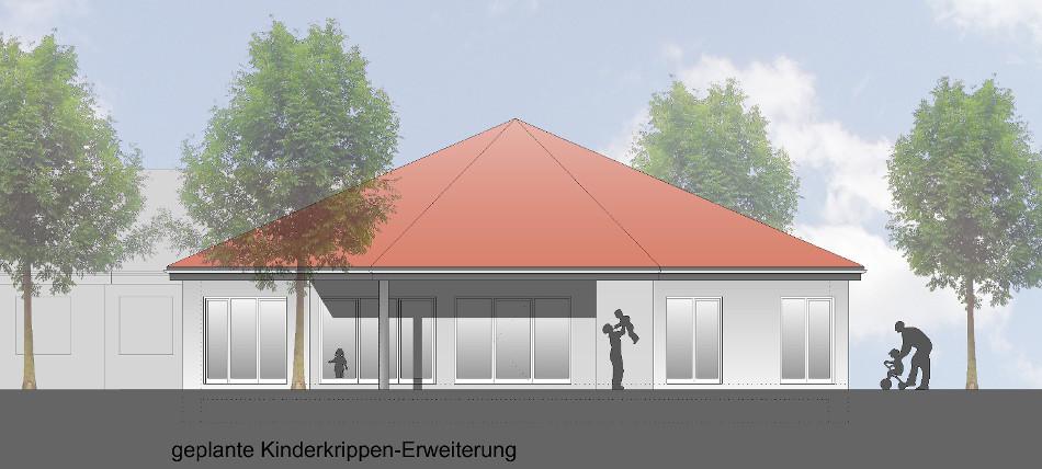 Az318_Erweiterung_Kindertagesstätte_Lauenbrück_Ansicht_Neubau