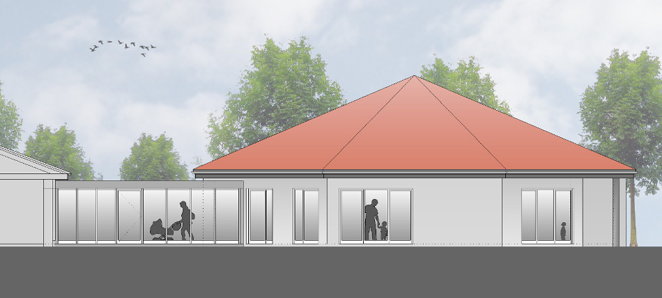 Az318 Erweiterung Kindertagesstätte Lauenbrück Seitenansicht Neubau