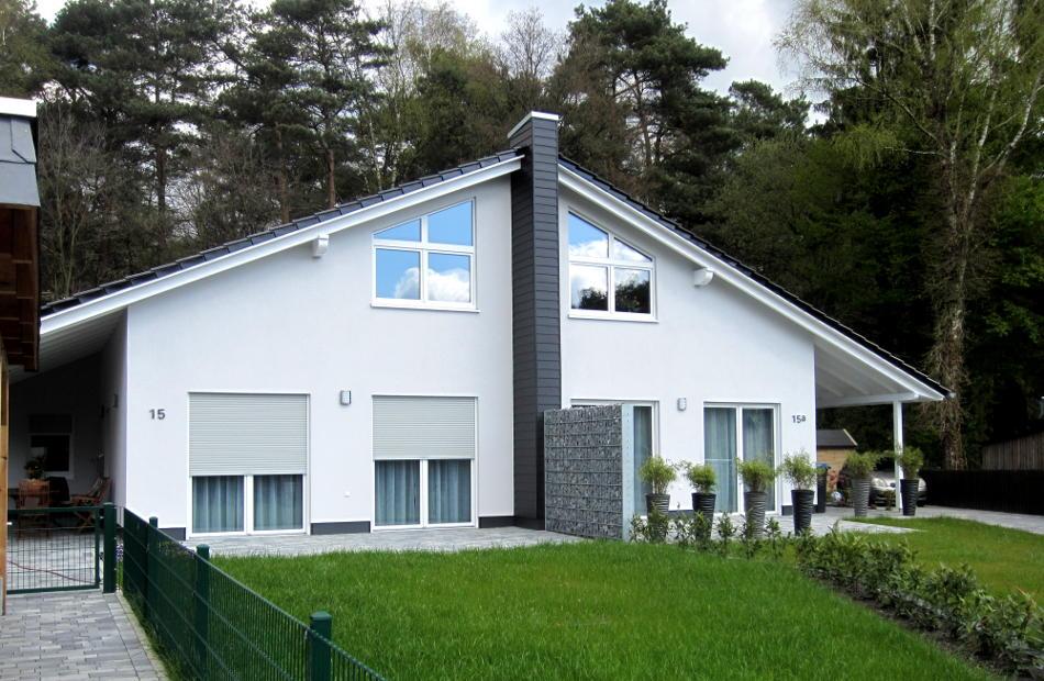 Az263 Neubau Doppelhaus Eversen Wdvs Satteldach Bild 1
